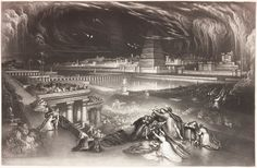 Fall of Babylon, a print by John Martin, published in From John Martin's 'Illustrations of The Bible', first published in 1838 in complete book form by Charles Tilt. Dutch Republic, John Martin, World Religions, Art Institute Of Chicago, End Of The World, Ancient Art, Art Museum, Baroque, Printmaking