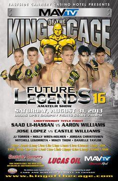 KOTC Future Legends 16 Fightcard