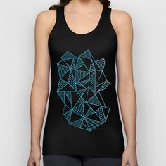 Abstraction Lines Watercolour Unisex Tank Top by Project M   Society6 #abstract #abstraction #lines #geometric #triangles #white #blue #projectm