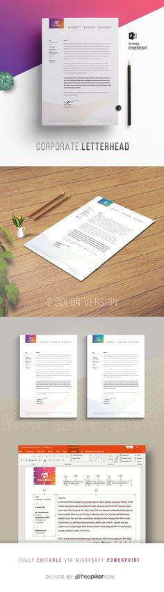 Multipurpose Corporate Letterhead Template