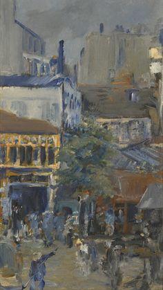 Edouard Manet 1832-1883 VUE PRISE DE LA PLACE CLICHY oil on canvas 39.4 by 22.5cm. Painted in 1878.