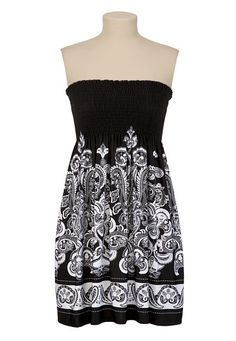 From: Maurices - Smocked Scarf Print Tube Dress -- Want!