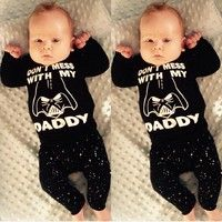 Wish   Star Wars Newborn 6 12 18 24 Months Tops Shirt Pants Set Baby Boy Clothes Outfit