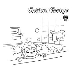 free printable Curious George coloring page Color pages