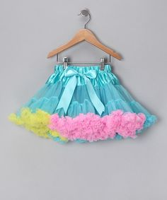 Aqua, Pink & Yellow Pettiskirt - Infant, Toddler & Girls  by Tutus by Tutu AND Lulu - perfect for costume/party
