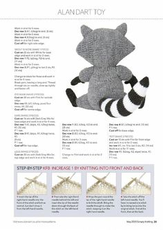 Alan Dart/'s Mademoiselle Pong DK Toy Knitting Pattern