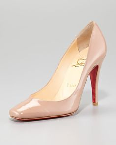 Christian Louboutin Particule Patent Pointed Red Sole Pump | Neiman Marcus | $695