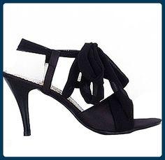 Damen Sandaletten High Heels Sandalen Stilettoabsatz Sexy Elegant Riemchen-Sandalen (EU40-Fußlänge 255mm-41, Schwarz) - Sandalen für frauen (*Partner-Link)
