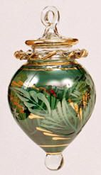 Blown Glass Christmas Ornament :  Good Will