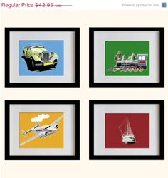 ON SALE Nursery Art Print Transportations  by MadeForYouPrints, $37.95