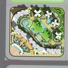 Landscape Architecture Drawing, Landscape Design Plans, Concept Architecture, Ancient Architecture, Site Plan Rendering, Site Plan Drawing, Plan Autocad, Apartment Sites, Site Plan Design