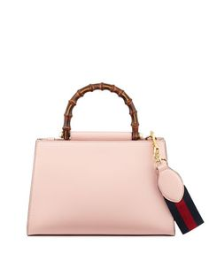 Nymphea+Small+Bamboo-Handle+Tote+Bag,+Soft+Pink/White+by+Gucci+at+Neiman+Marcus.