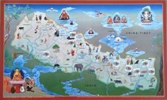 ! Nepal Map - Tenzin Norbu small