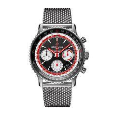 Worldwide Watches Magazine Breitling Navitimer, Breitling Watches, Luxury Jewelry Brands, Mesh Bracelet, Stainless Steel Mesh, Watch Sale, Chronograph, Fashion Bracelets, Luxury Branding
