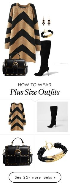 """""""Going to work*- plus size"""" by gchamama on Polyvore featuring River Island, Sterling Forever and Finesse"""