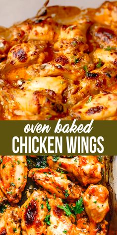 Super Juicy Baked Chicken Wings Recipe, kid's favorite! Super Juicy Baked Chicken Wings Recipe, kid's favorite! Juicy Baked Chicken, Grilled Chicken, Baked Salmon, Garlic Chicken, Oven Chicken Recipes, Best Baked Chicken Recipe, Healthy Chicken, Grilling Recipes, How To Bake Chicken