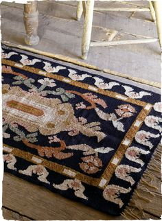 Classic Moorish motifs pattern our tapestry-woven rug in antique shades grounded in black to complement a range of floors. Handwoven by Peruvian artisans of wool (95%) with cotton (5%) warp.