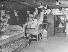 Inside the cabin of the Walker sisters.