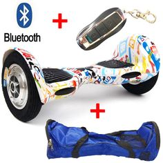 10 Inch 2 Wheel Self Electric Standing Scooter Unicycle Skateboard hoverboard Bluetooth+Remote+Bag hover bord