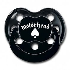 How cool is this Motörhead Logo pacifier. For babies of about 0 to 6 and 6 to 18 months and certified as baby-safe. Littlerockstore Inspiration Book (mini) for free with every order