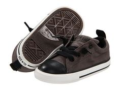 JUDE:  Converse Kids Chuck Taylor® All Star® Street Ox Slip (Infant/Toddler) Charcoal/Black - 6pm.com