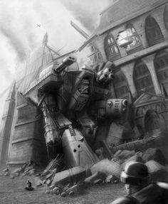 Wh40K: Fallen Giant by StugMeister.deviantart.com on @deviantART