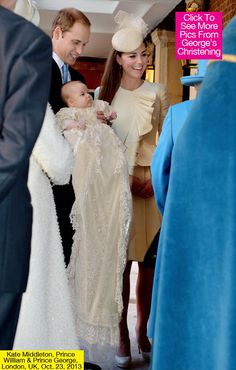 prince georges christening pictures oct 2013 | Kate Middleton's Christening Dress — Stuns For Prince George's ...