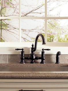 Moen Waterhill Oil Rubbed Bronze Two-handle High Arc Kitchen Faucet