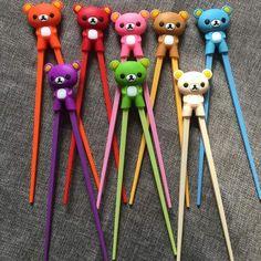 1 Pair Multi Color Cute Bear Panda Cat Minions Learning Training Chopsticks For Kids Children Chinese Chopstick Learner Gifts Kids Chopsticks, Minions, Party Giveaways, Cute Panda, Cute Bears, Childrens Party, Cute Kids, 5 Kids, Shopping