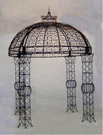 """Wrought Iron Lacey """"Cinderella"""" Gazebo Retail: $2830.00 - Home Garden and Patio Furniture, Decor and Accents"""