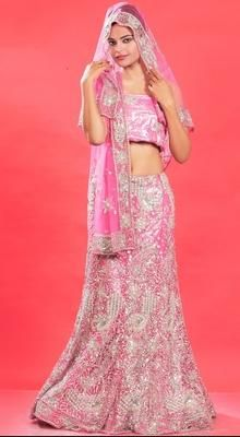 Charming Rose Pink Lehenga Choli