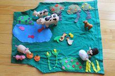 DIY Farm Playmat With Storage Pocket