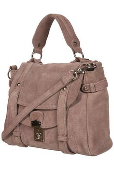 TAUPE SUEDE SLOUCH SATCHEL
