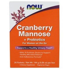 Now #Foods #Cranberry and #Mannose with #Probiotics #Drink #Packets, #24 #Count Cleanses the urinary tract With #probiotics to help maintain a healthy microbial balance Cranberries are a well-known source of abundant flavonoids and other bio-active components https://food.boutiquecloset.com/product/now-foods-cranberry-and-mannose-with-probiotics-drink-packets-24-count/