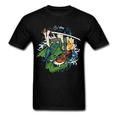 Amazon com Japanese Geisha Fierce Warrior TeeBack Breathable Men 39 s T Shirts Clothing