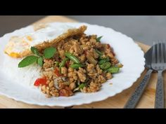 Thai Holy Basil Stir-Fry Recipe (Pad Gaprao) ผัดกะเพรา  with two types of Chili - Hot Thai Kitchen! - YouTube