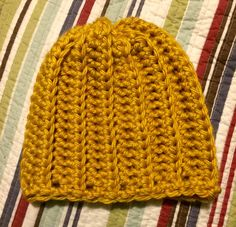 Crochet Chunky Bulky Ribbed Slouchy Beanie by SonitasYarnStash