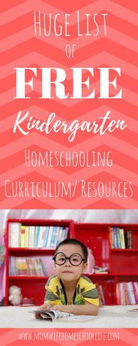 Huge List of FREE homeschool curriculum and resources! Pin For Later.