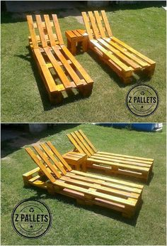 Artistic and much an interesting creation of the pallet designed garden sun lounger is all finished in a classy way right here for you. This sun lounger style wood pallet designing is mixed in the availing service of showing you the sort of seating purpose use that make it super functional to carry out.
