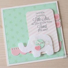baby shower card handmade