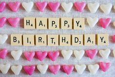 Hart snoepjes Happy Birthday kaart van SarahGalasko op Etsy