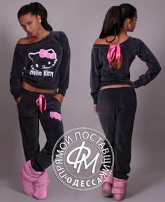 Hello Kitty Sweatshirt & Pants Fleece Set