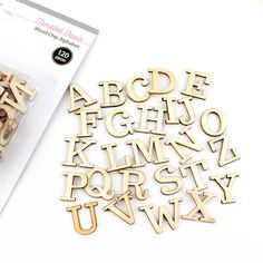 Freckled Fawn | Alphabet Wood Chips - 120 pieces | SharBearCrafts