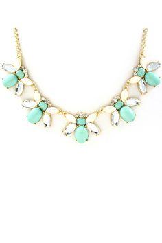 Mint Cluster Necklace