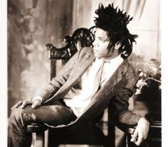 When James Van Der Zee was 95 years old, he made this portrait of  Jean-Michel Basquiat