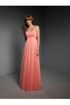 Elegant Strapless Beads Ruffle Backless Floor Length Bridesmaid Dress by Mori Lee 268