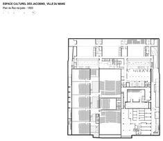 Les Quinconces Cultural Center,Floor Plan