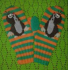 Myyrälapaset pattern by U. Fair Isle Knitting, Crochet Purses, Purses And Handbags, Mittens, Needlework, Knitting Patterns, Diy And Crafts, Knit Crochet, Gloves