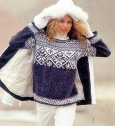 images attach c 6 91 924 Hand Knitted Sweaters, Baby Sweaters, Sweaters For Women, Knitting Stiches, Knitting Patterns, Handgestrickte Pullover, Norwegian Style, Norwegian Knitting, Icelandic Sweaters