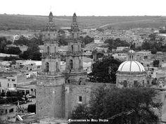 panorama vista de Templo de Encarnacion de Diaz Jalisco Mexico